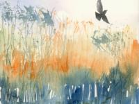 Flight Across Glistening Reed beds